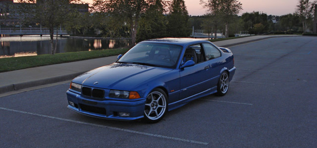 1998 BMW E36 M3 Estoril Blue
